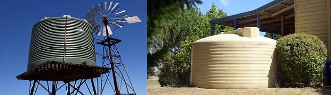 Rural and urban water tanks