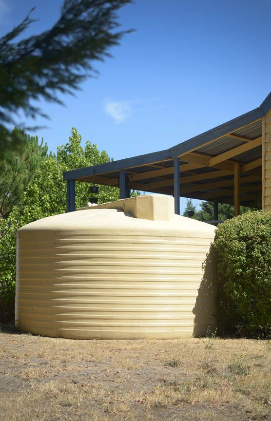 Yellow water tanks
