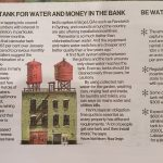 Install a tank for water and money in the bank